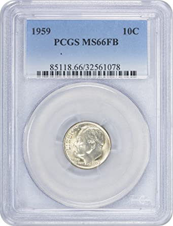 Image Unavailable Not Available For Color 1959 Roosevelt Dime MS66FB PCGS