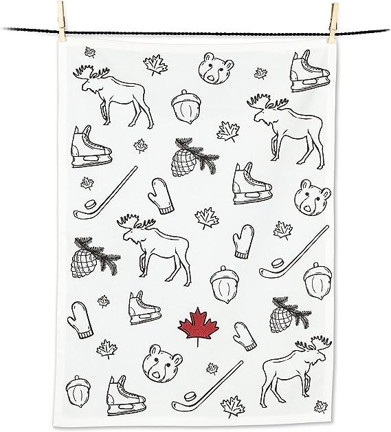 Abbott Collection Home 56-KT-JG-02 Abbott Collection Canadian Fish Tea Towel