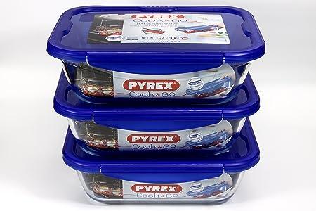 Pyrex rectangular Cook & Go juego Set 3.3 litre- rectangular ...