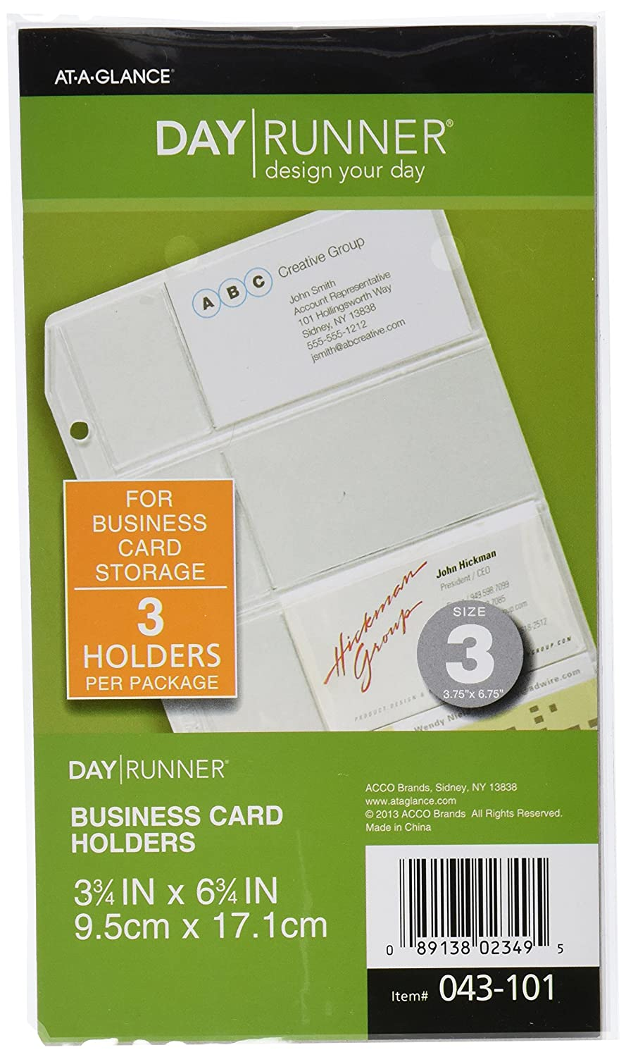 Amazon.com : Day Runner Side-Loading Business Card Holder, Clear ...