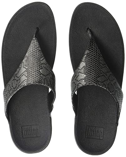 64de8b3ef56fe2 FitFlop Women s Casual Exotic Lulu Toe Post Black  Amazon.com.au ...