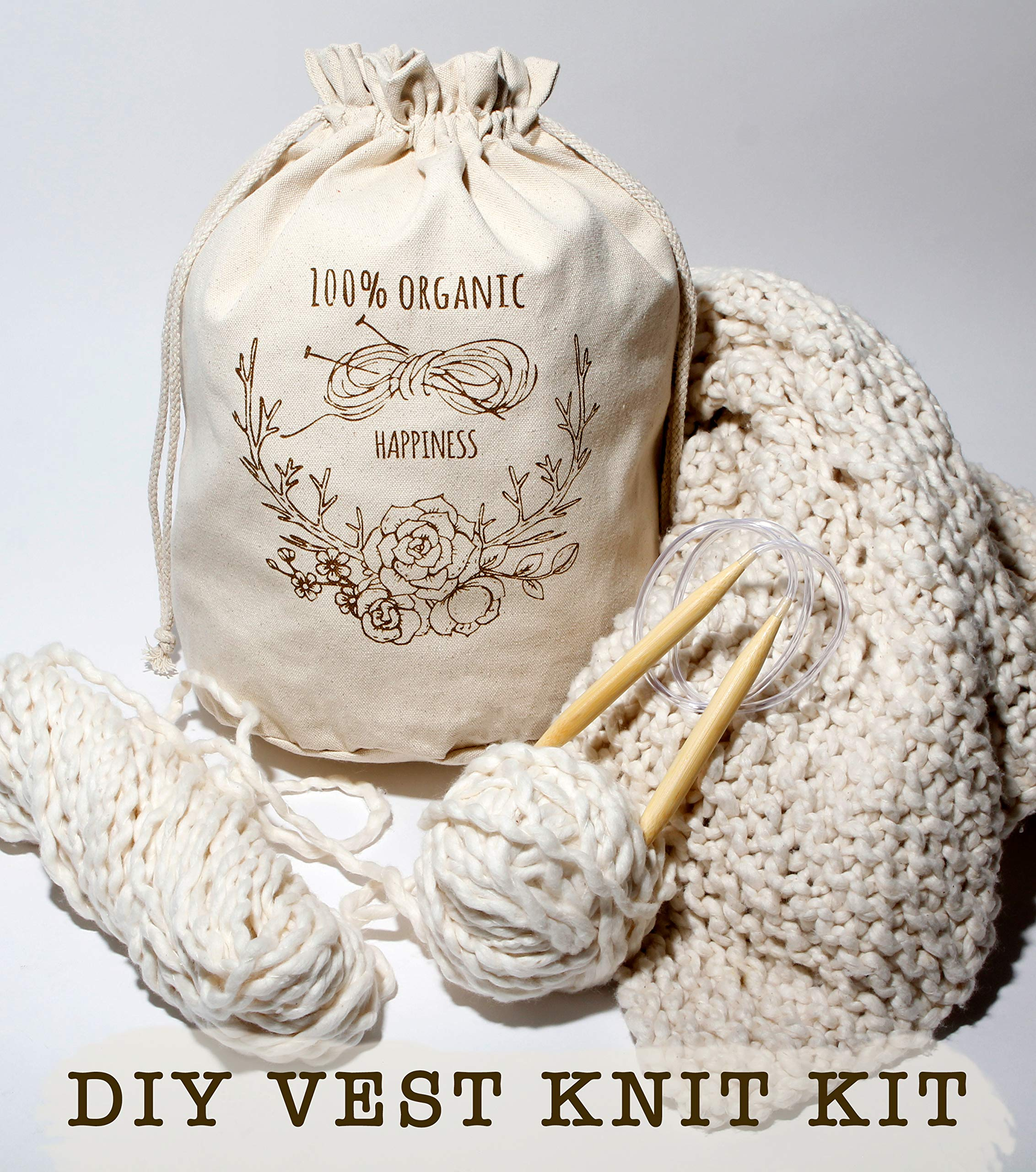 ARTE WEAR DIY Vest Knitting KIT by ARTE WEAR (Image #2)