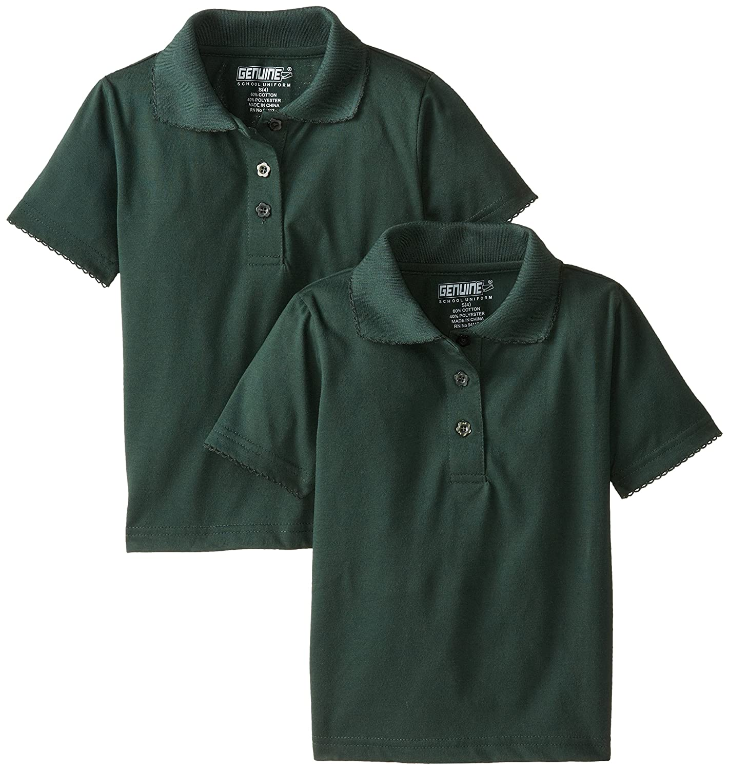 Genuine Girls 2 Pack Polo Shirt More Styles Available Genuine Girls 2-6x PL88