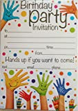 Pack of 20 Children's Party Invites - Hands Up design