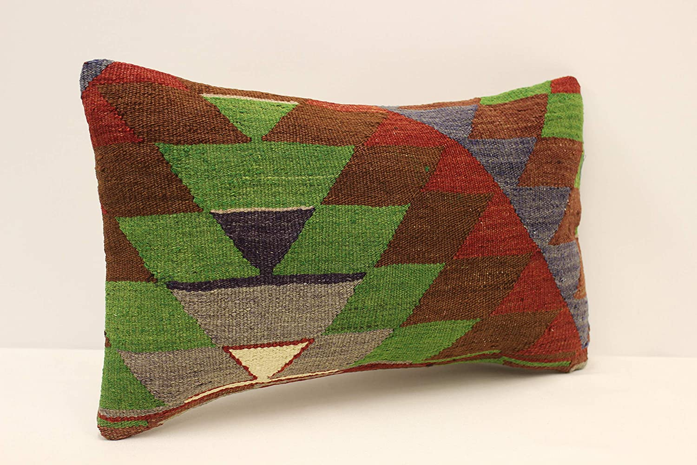 Lumbar Pillow Covers Vintage Pillow Beige Pillow Striped Pillow Throw Pillow SP3050 3586 Turkish Kilim Pillow 12x20 Rustic Pillow