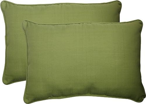 Pillow Perfect Outdoor Indoor Forsyth Kiwi Oversized Lumbar Pillow