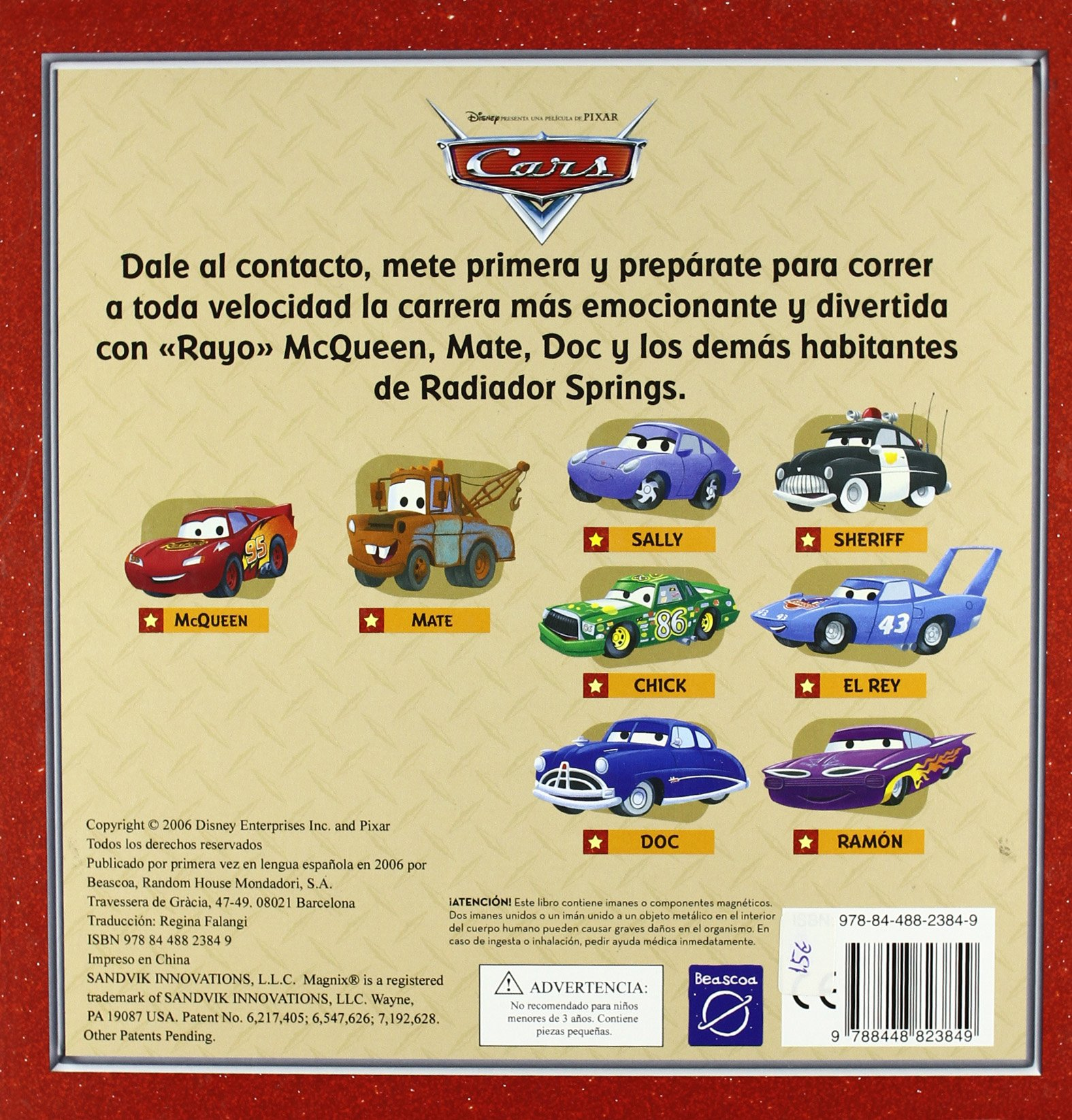 CARS. SOBRE RUEDAS (INC.8 FANTASTICOS IMANES): 9788448823849: Amazon.com: Books