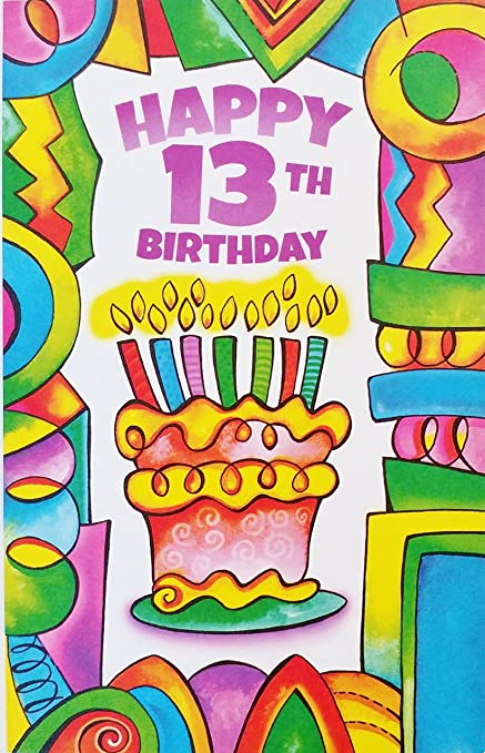 Amazon Happy 13th Birthday Greeting Card