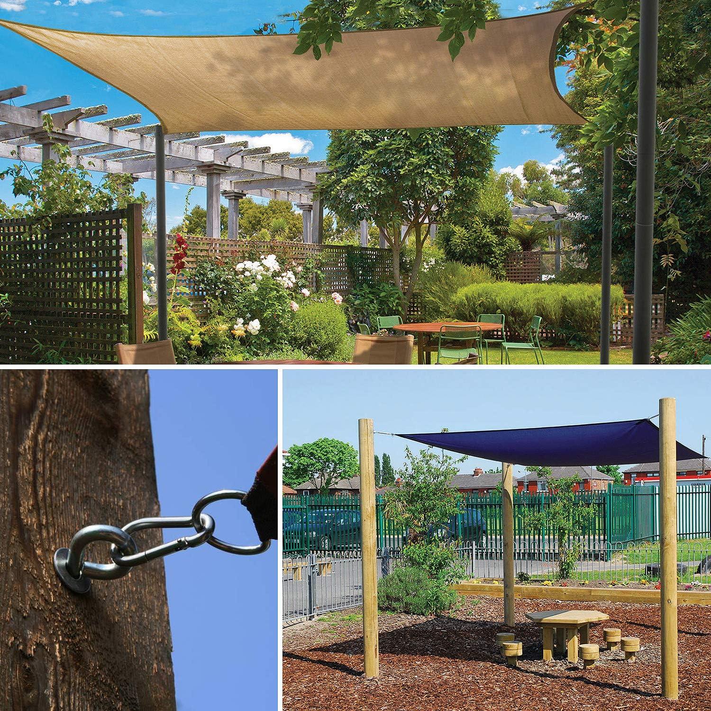 Hyber /& Cara Heavy Duty Sun Shade Sail Garden Patio Toldo Toldo Sunscreen Fixing Kit de Herramientas de instalaci/ón Accesorios 304 Acero Inoxidable Anti /óxido
