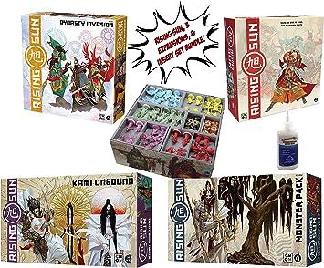 Juego de Base Solar Ascendente + Dynasty Invasion + Kami Pack + Monster Pack + Evacore Insert Organizador – Juego de Mesa: Amazon.es: Juguetes y juegos