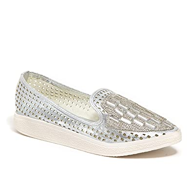Lady Couture Women's Fashion Sneaker with Stones, Fever   Fashion Sneakers