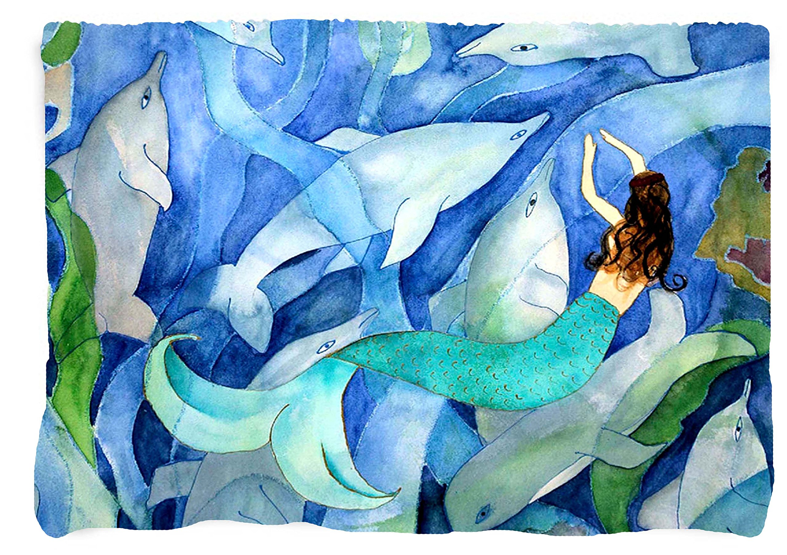 Dolphin and Mermaid Throw Blankets (60 x 50) by xmarc
