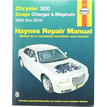 amazon com automotive repair manual for chrysler 300 dodge charger rh amazon com 2009 Dodge Avenger Manual Dodge Service Manuals