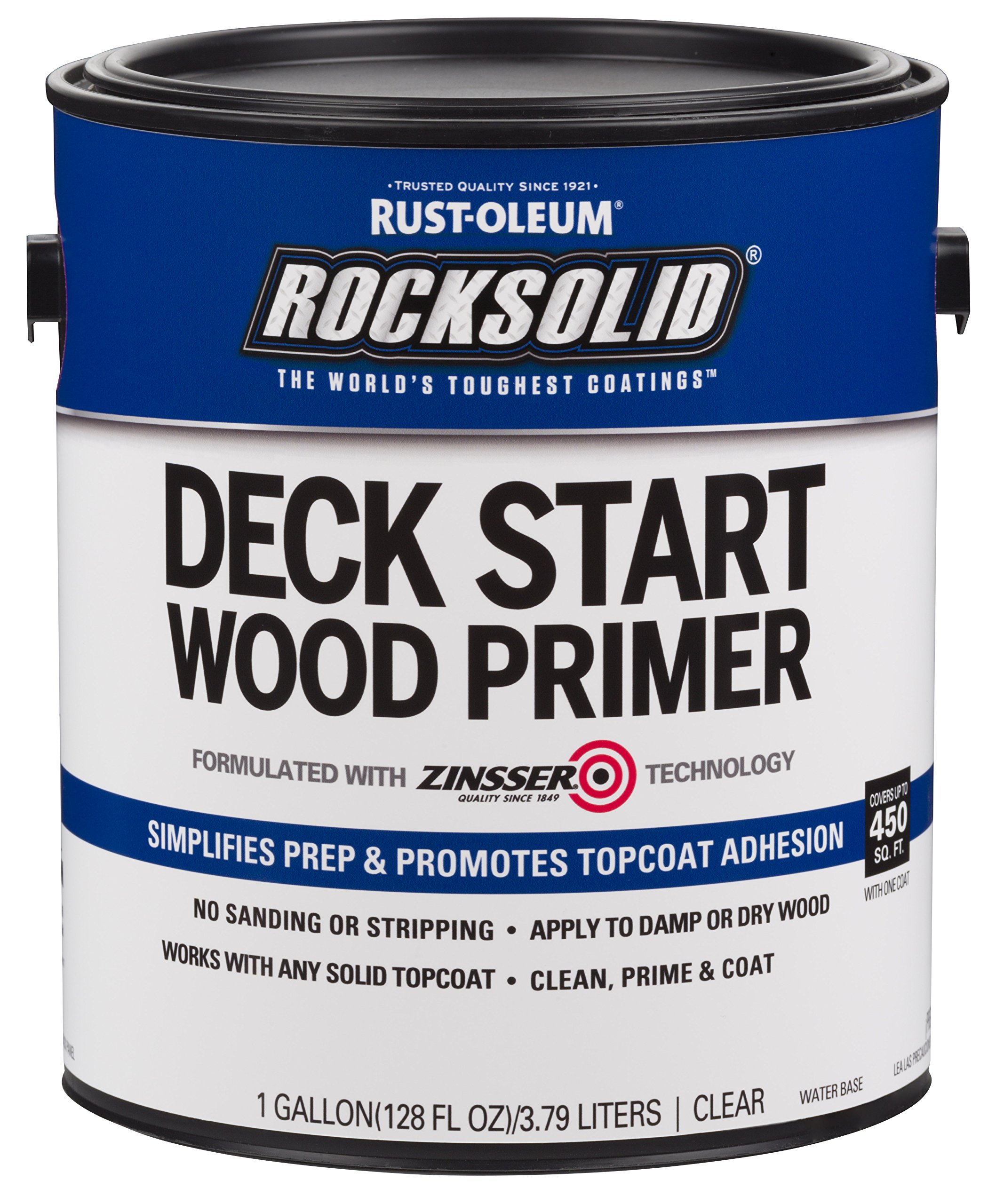 Rust-Oleum 312283 RockSolid Deck Start Wood Primer, 1 Gallon, Clear