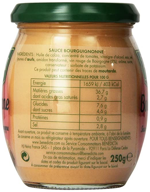 Temperature Conservation Vin Rouge #9: Good Amazoncom Benedicta Gourmet Burgundy Sauce Sauce Oz Hot Sauces Grocery  U Gourmet Food With Temperature Vin Rouge