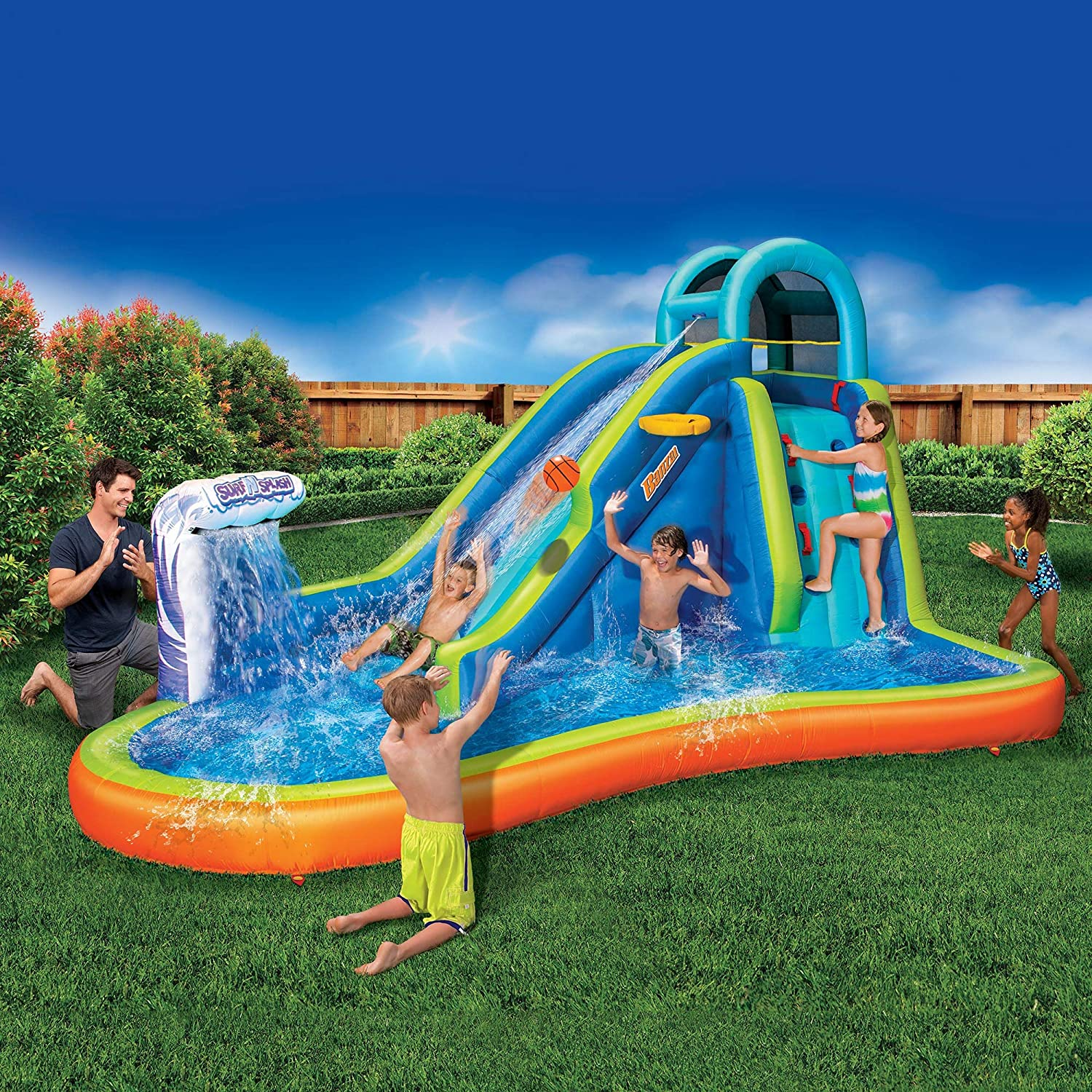 Top 7 Best Water Slide Pools Inflatable Reviews in 2021 14