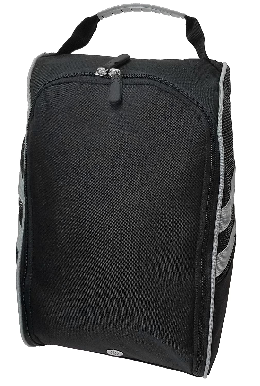 Golf Shoe Bag >> Amazon Com Caddydaddy Golf Modern Golf Shoe Bag Black Grey