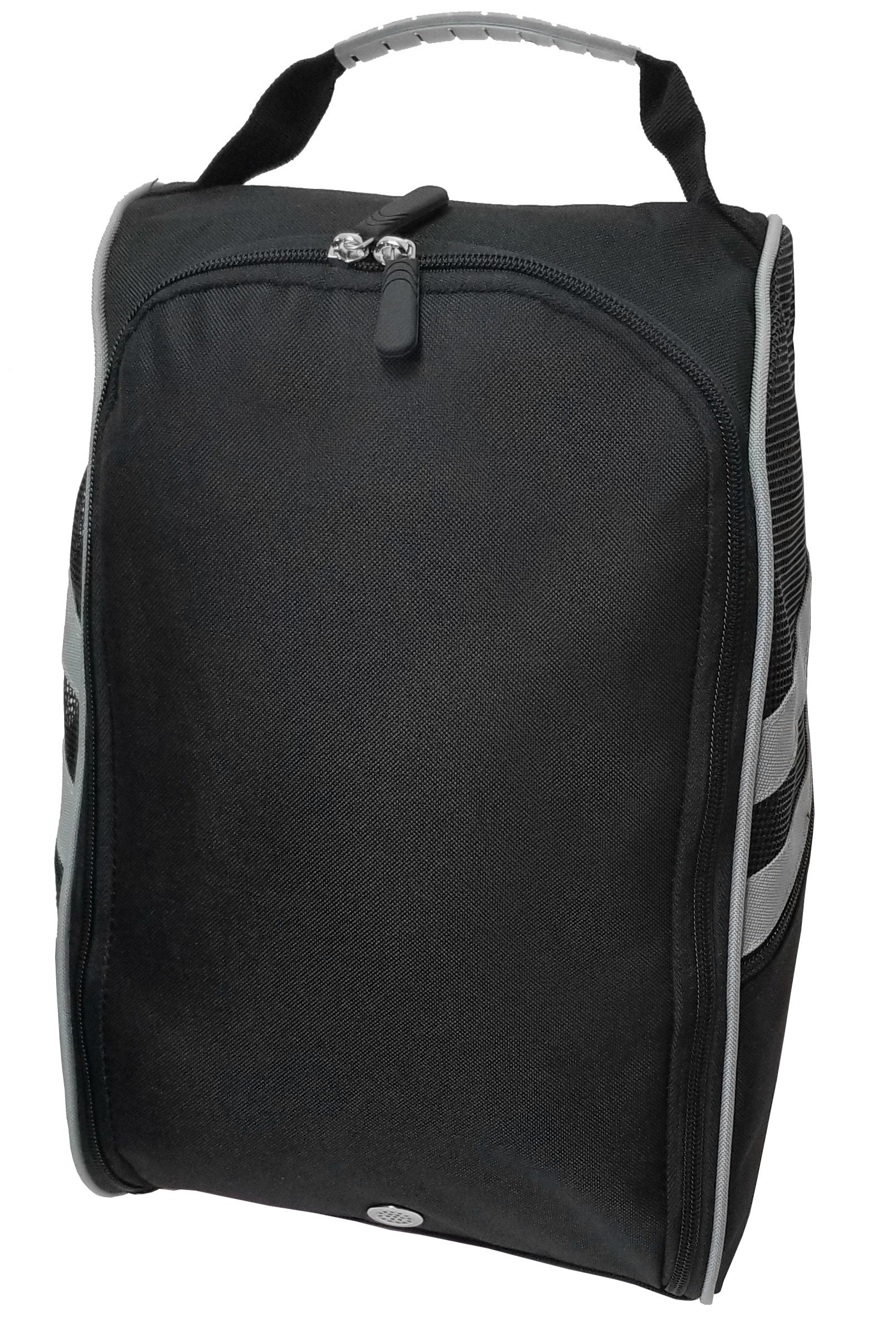 CaddyDaddy Golf Modern Golf Shoe Bag, Black/Grey by CaddyDaddy