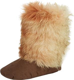 Woolsies Coyote Wool Slipper Booties, Scarpe Rivestimento da Donna