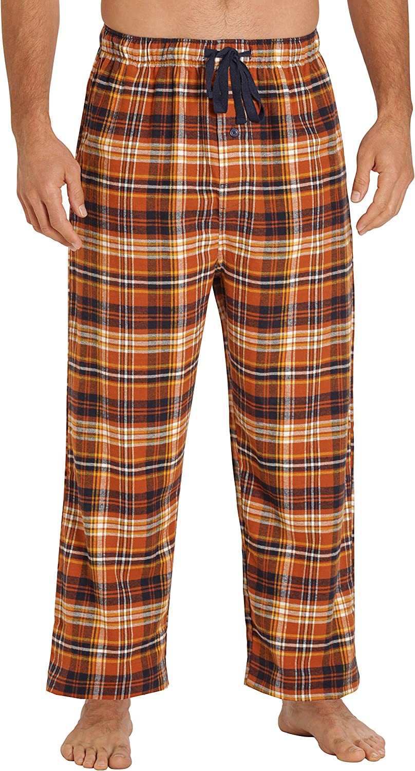 Long 100/% Cotton PJ Bottoms EVERDREAM Sleepwear Mens Flannel Pajama Pants