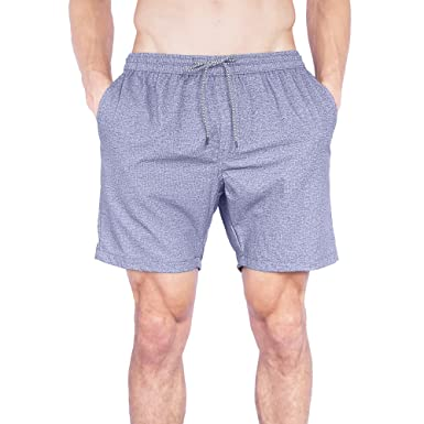 aa2afcea77 Molokai Elastic Waist Mens Boardshorts | Chubbies Swim Trunks Gym Short for  Men - Grey -