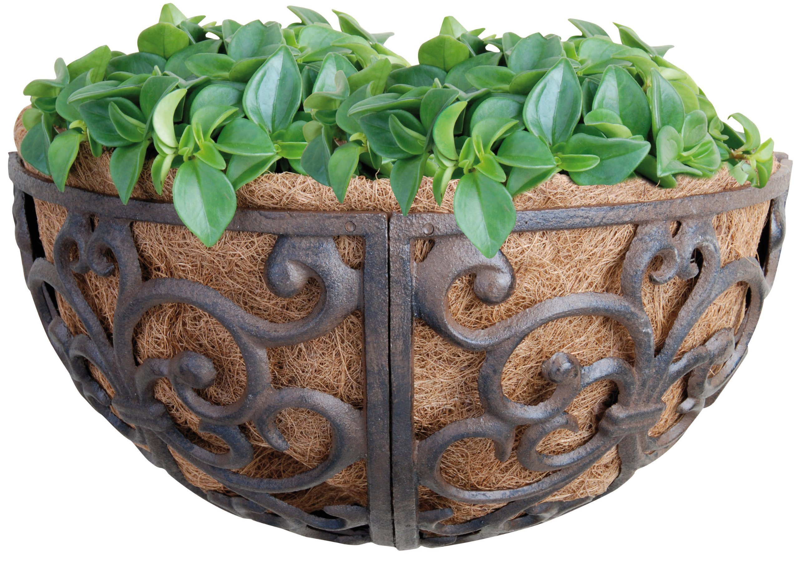 Esschert Design USA BPH27 Cast Iron Hayrack Basket Planter, 14-Inch