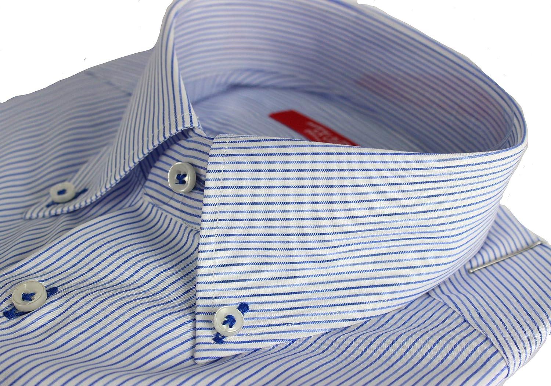 Perfiles de Toscana. Camisa de Hombre clásica, Art. Montierios, fabricación Artesanal, Fabricado en Italia.: Amazon.es: Ropa y accesorios