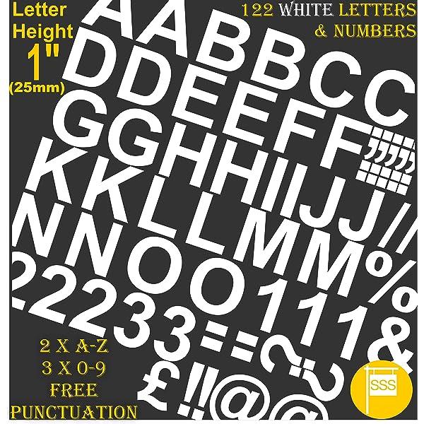 Chartpak 1/2-inch blanco vinilo adhesivo Letras y números ...
