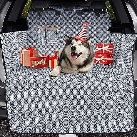 Omorc Kofferraumschutzmatte Für Hunde 100 Wasserdicht Kofferraumschutz Für Hunde Mit Anti Rutsch Pad Stoßstangenklappe Suv Cargo Liner Für Suv Truck Haustier