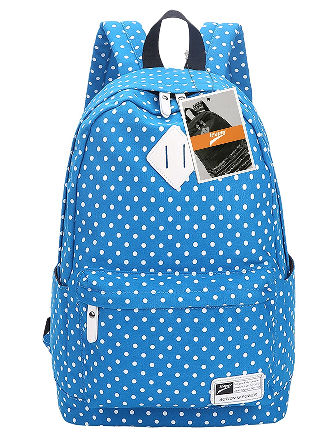 942ff8acf80a Leaper Polka Dots Laptop Backpack School Bag Casual Daypack Travel Rucksack  Knapsack(Light Blue)  Amazon.co.uk  Luggage