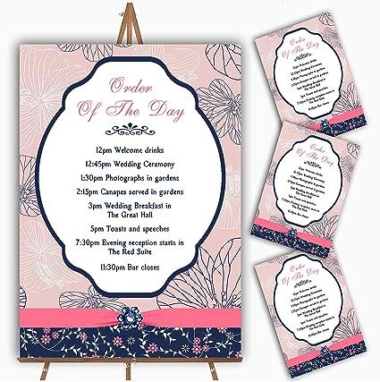 Tarjetas de felicitación de boda, personalizables, diseño floral ...
