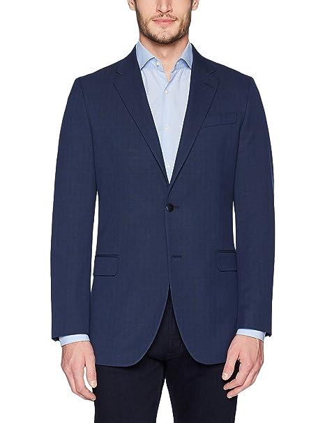 Nautica Mens Bi-Stretch Slim Fit Suit Separate Blazer (Blazer and Pant), Navy Plaid, 44 Short