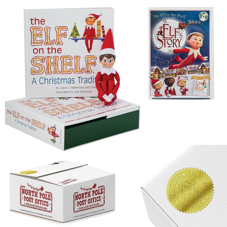 Elf on the Shelf Gift set: Boy Scout Elf with bonus An Elf Story DVD ...