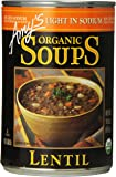 Amy's Light in Sodium Organic Soups,  Lentil, 14.5 Ounce (Pack of 12)