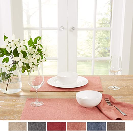 """VINYL PLACEMAT/'S Set of 4 by Town /& Country Living  ASSORTED COLORS 13/"""" x 18/"""""""