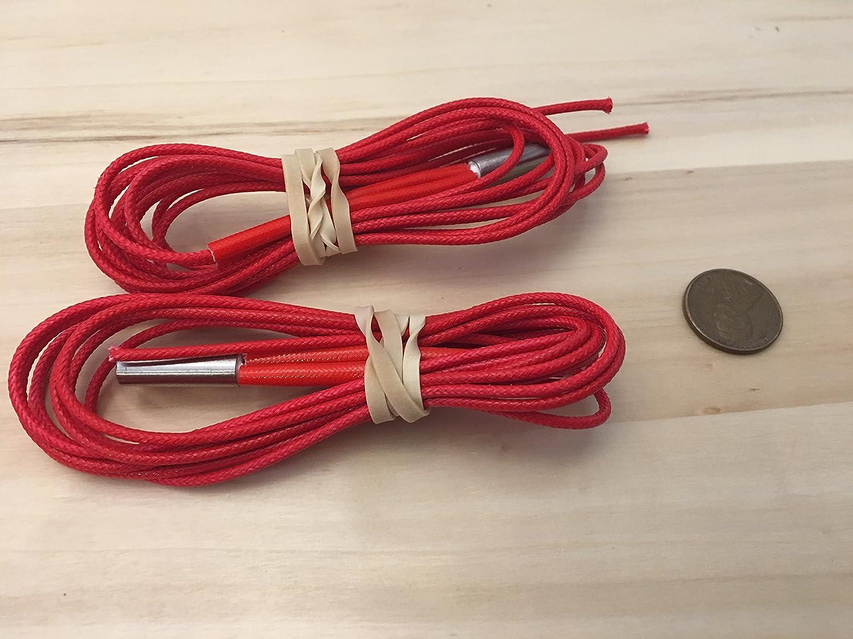2 pcs Reprap 24V 40W Ceramic Cartridge Heater for 3D Printer Prusa Mendel up C19