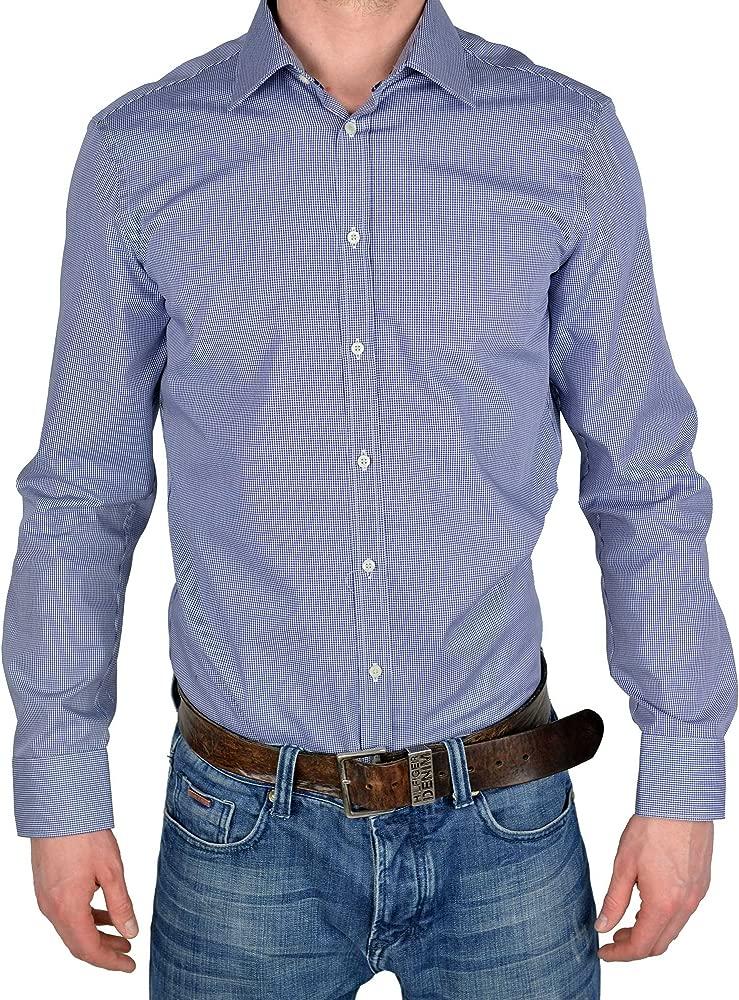 Venti - Camisa casual - Clásico - para hombre azul 43: Amazon.es ...