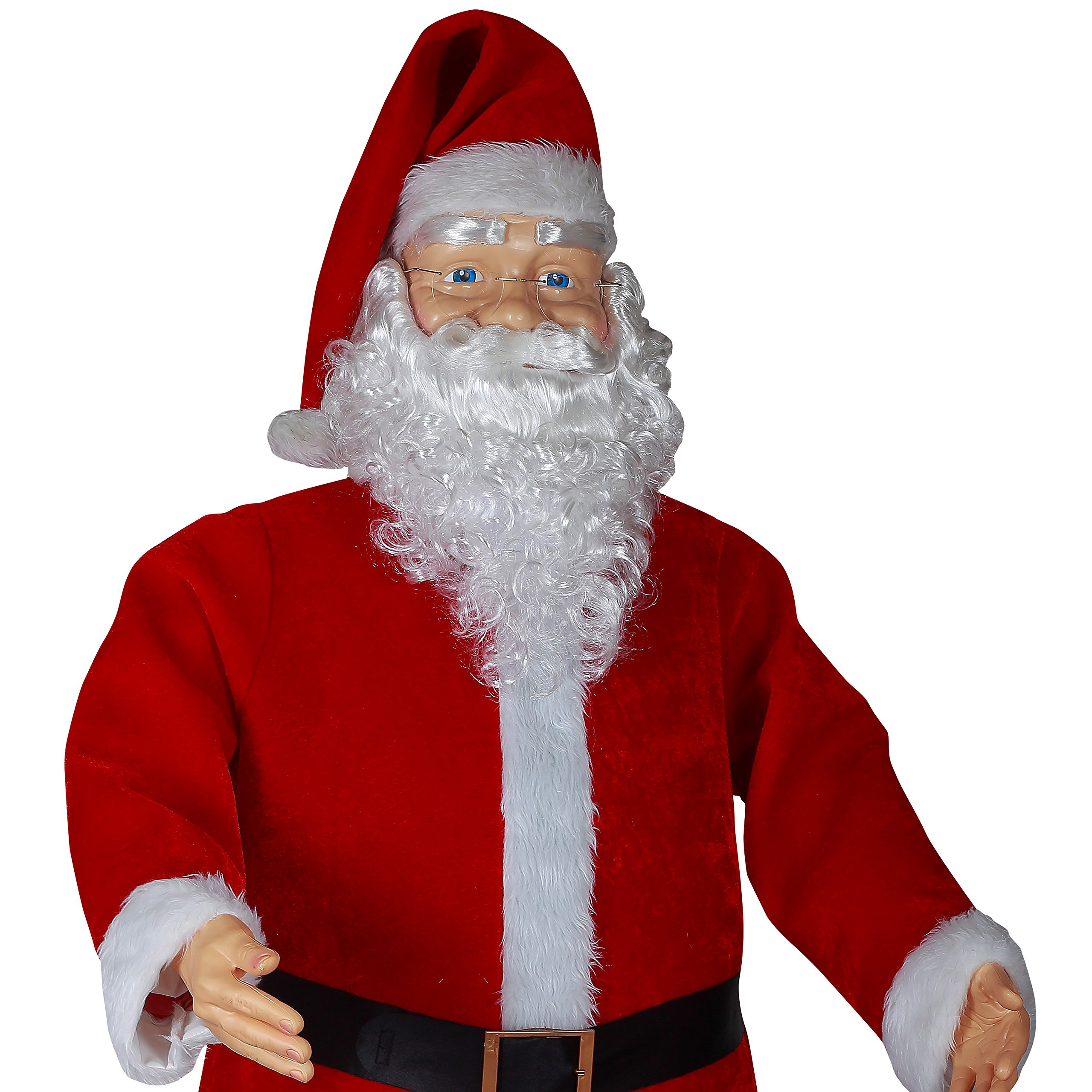 6' Life Size Animated Dancing Santa with Realistic Face by Gemmy (Image #2)
