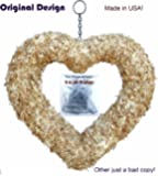 """9"""" Heart Living Wreath Sphagnum Moss Form Complete"""