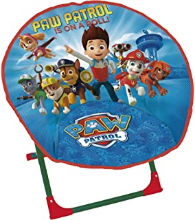 Room Studio 709498 Paw Patrol Moon Shape Folding Chair   Aluminium/Blue, 50  X