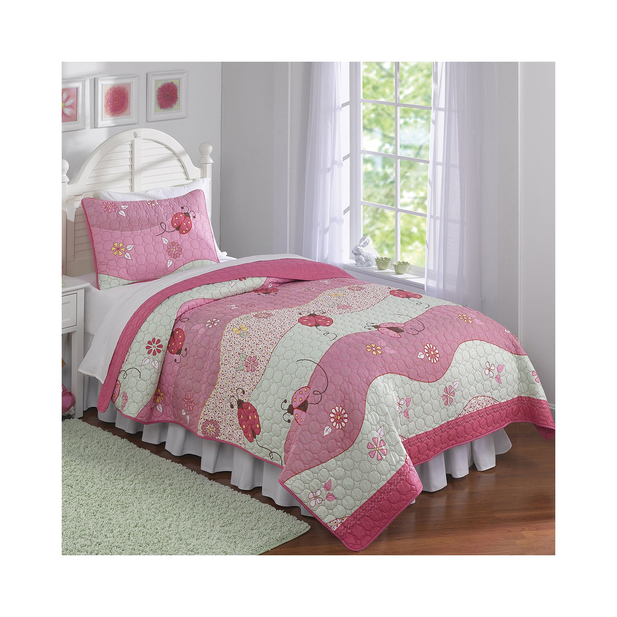 Pem America Garden Wave Quilt Set, Queen