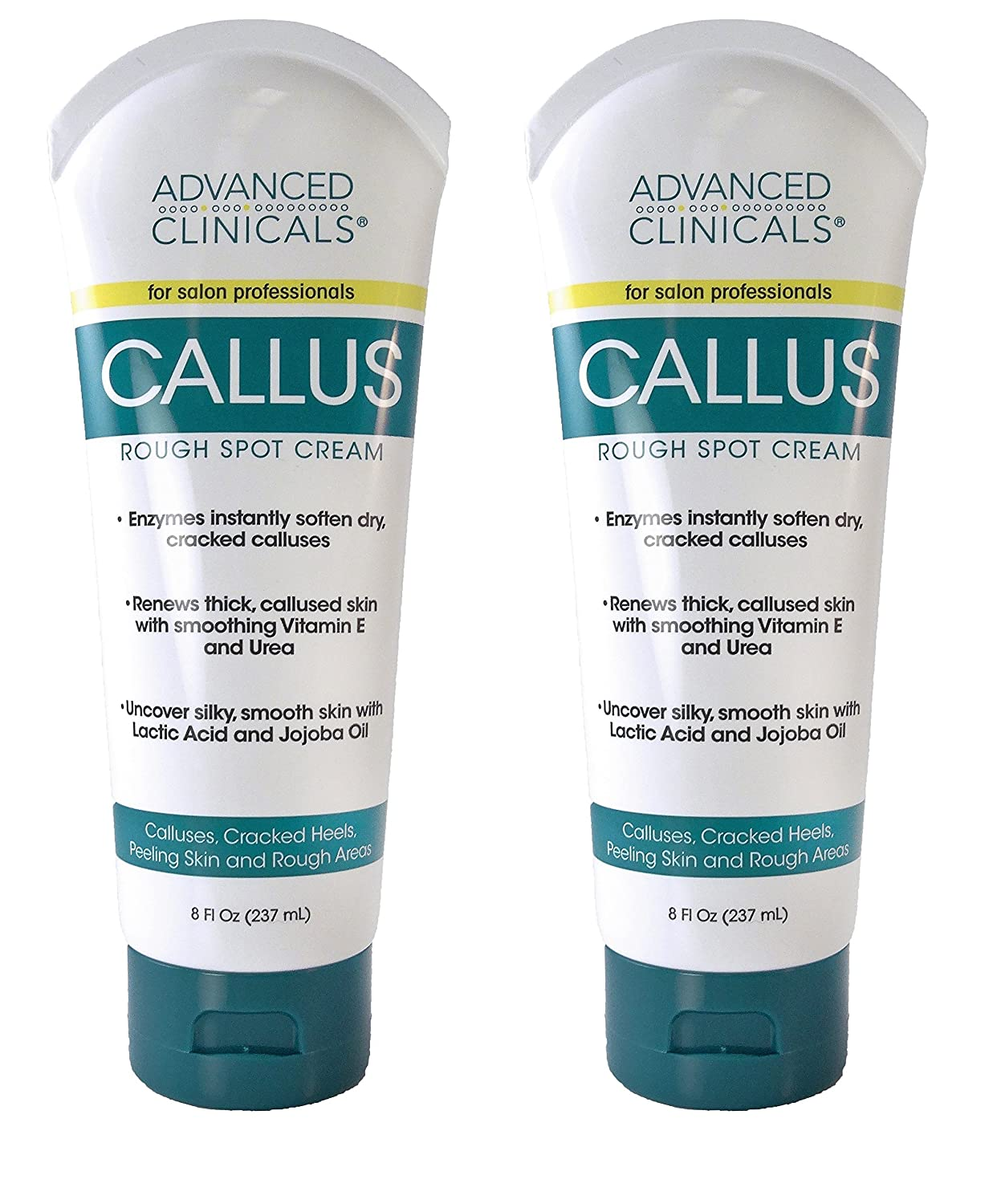 Advanced Clinicals Callus Cream. Best Foot Cream for callus and rough spots. For Rough Dry Skin on Feet, Hands, Elbows. (8oz): Health & Personal Care