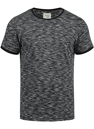 498f863cbfa1 Blend Lex Herren T-Shirt Kurzarm Shirt mit Streifen und Rundhalsausschnitt  100% Baumwolle,