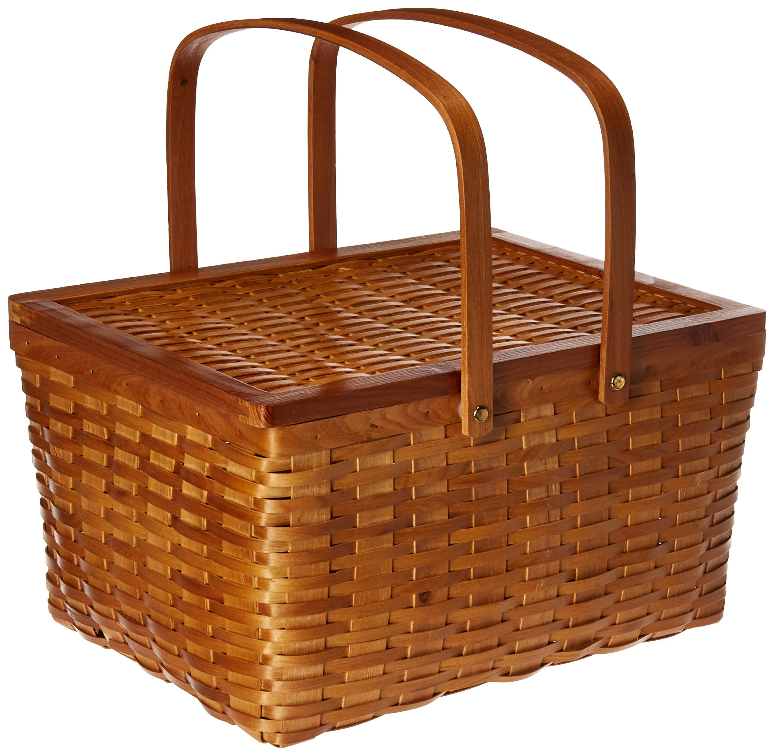 Vintiquewise(TM) Rectangle Handwoven Chipwood Basket by Vintiquewise