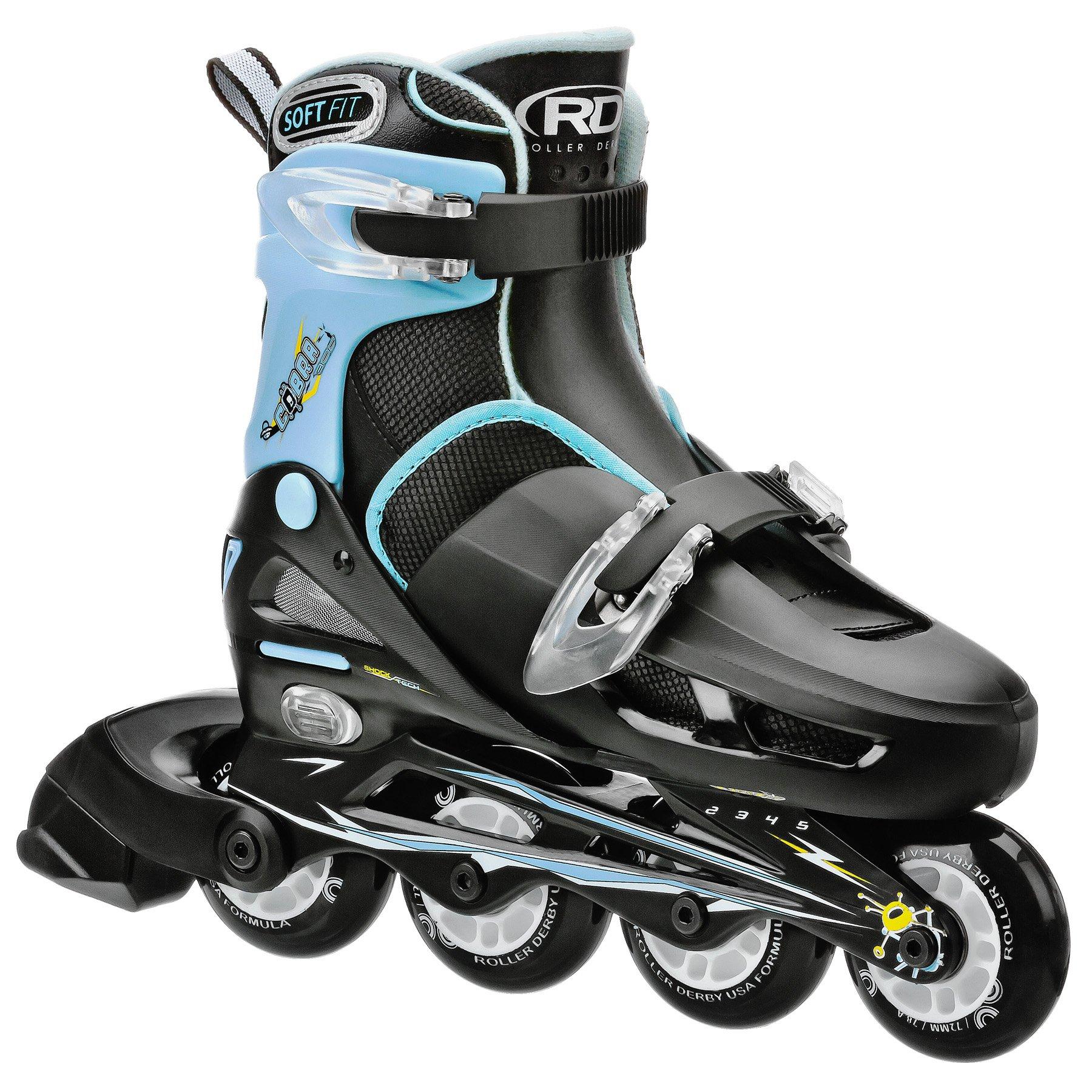 Roller Derby Boy's Cobra Adjustable Inline Skate, Small 12-1 by Roller Derby