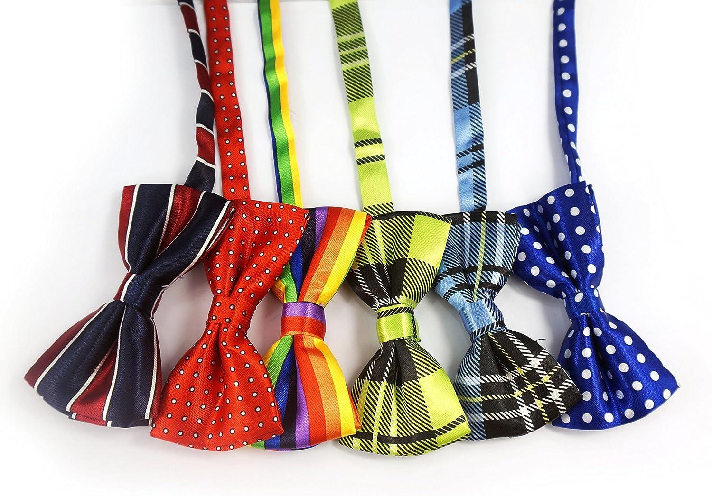LilMents 12 Pack Boys Mixed Designs Adjustable Pre Tied Bow Necktie Tie Set