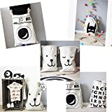 Canvas Storage Bag Basket Organizers for Kids Toys, Baby Clothing, Children Books, Gift Baskets (Dog Sleepy Face)