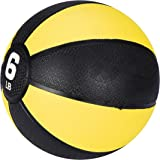 F2C Medicine Balls Workout Med Ball for Core Strength, Balance, Coordination Exercise Non-Slip Rubber Shell Textured Surface