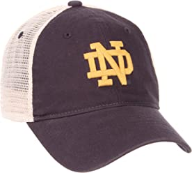 Zephyr NCAA Relaxed Fit Vintage- University- Adjustable Trucker Hat Cap-Notre  Dame Fighting 051078e9afdd