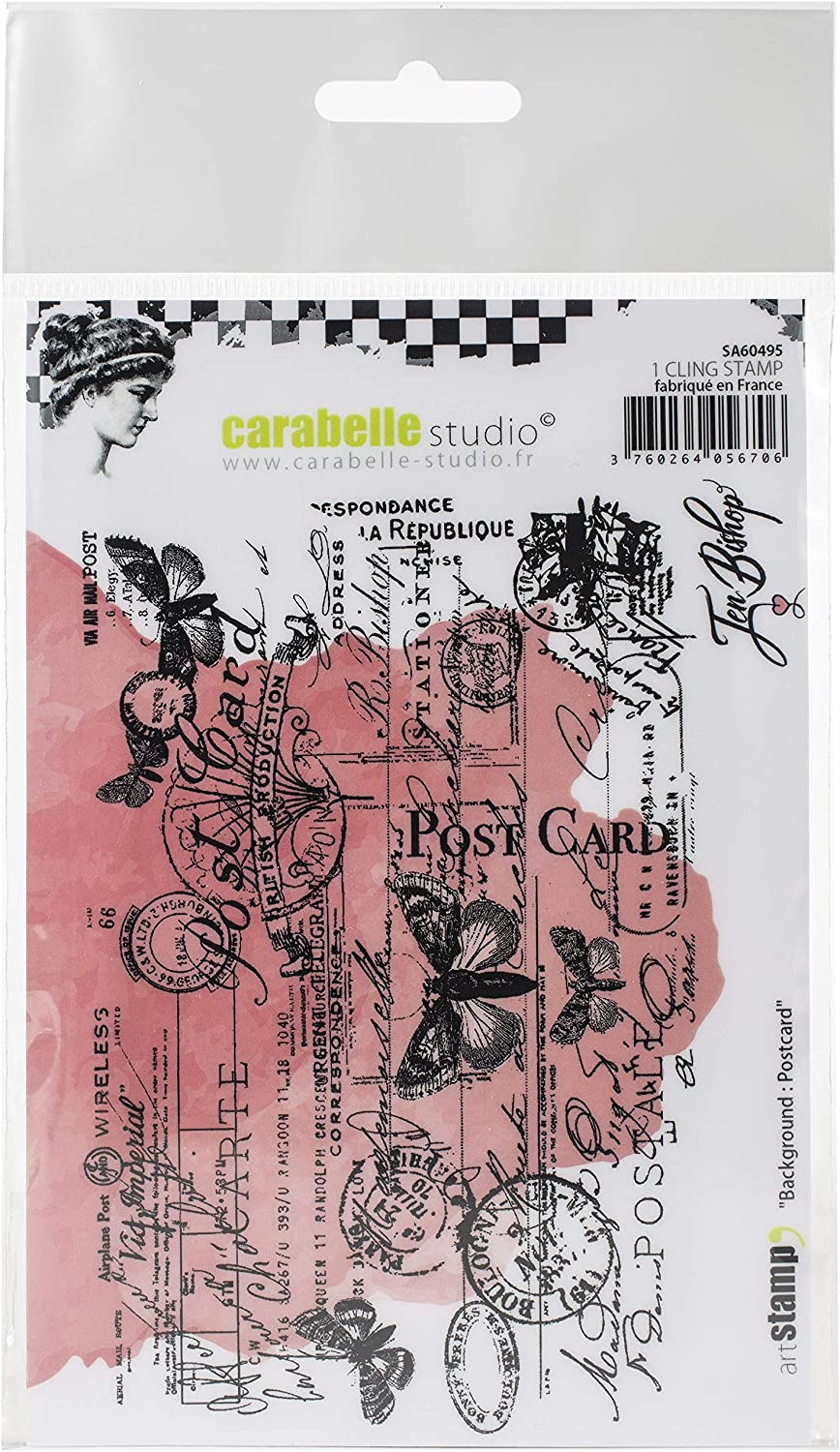 Postcard Background us:one size CARABELLE STUDIO Cling Stamp